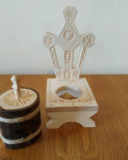 candela din lemn de tei